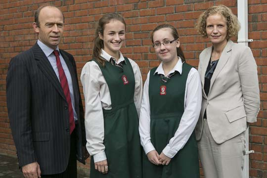 Deirbhile Fitzgerald and Orla Gaughran Best Overall Junior Cert Result